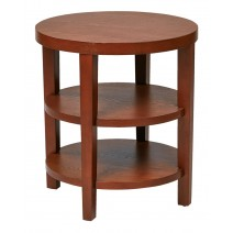 "Work Smart Merge 20"" Round End Table (Cherry)"