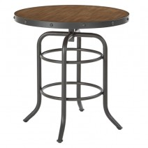 Batson Table with Sandstone Stop and Gunmetal Base, ASM