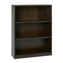 "3-Shelf Bookcase with 1"" Thick Shelves - Espresso"