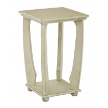 Mila Square Accent Table in Antiique Celadon Wood Finish