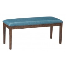 Langston Bench in Blue PU with Black Nail Heads K/D