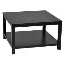 "Work Smart Merge 30"" Square Coffee Table Black Finish"