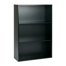 "Prado 48"" 3-Shelf BookCase with 3/4"" Shelves and 2 Adjustable Shelves in Black."