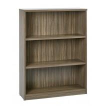 "3-Shelf Bookcase with 1"" Thick Shelves - Urban Walnut"