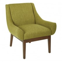 Couper Chair in Green Fabric with Coffee Legs K/D