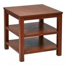 "Work Smart Merge 20"" Square End Table Cherry Finish"
