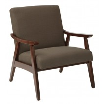 Davis Chair in Klein Otter fabric with medium Espresso frame.