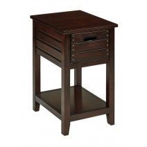 Camille Chair Side Table in Walnut Finish