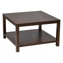 "Work Smart Merge 30"" Square Coffee Table Espresso Finish"