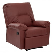 OSP Designs Kensington Recliner in Crimson Red Bonded Ther
