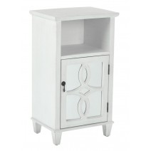 Medina Accent Table in Hand Painted Antique White Finish