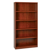 "5-Shelf Bookcase with 1"" Thick Shelves - Cherry"