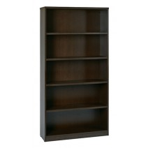 "5-Shelf Bookcase with 1"" Thick Shelves - Espresso"