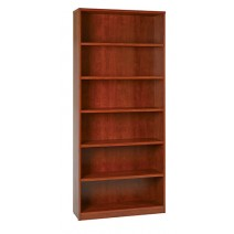 "6-Shelf Bookcase with 1"" Thick Shelves - Cherry"