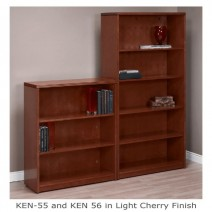 "Kenwood 3-Shelf Bookcase/Hutch, 42"" High, Light Cherry"