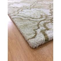 Handmade Wool Modern Ivory/ Brown 5' x 8' lt1556 Area Rug