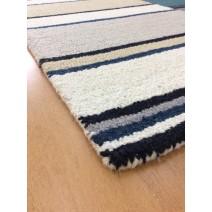 Handmade Wool Modern Gray/ Silver 5' x 8' lt1560 Area Rug