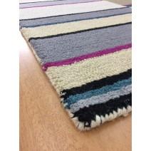 Handmade Wool Modern Ivory/ Gray 5' x 8' lt1561 Area Rug