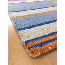 Handmade Wool Modern Blue/ Brown 5' x 8' lt1562 Area Rug