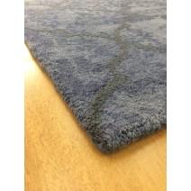 Handmade Wool Modern Gray/ Blue 5' x 8' lt1563 Area Rug