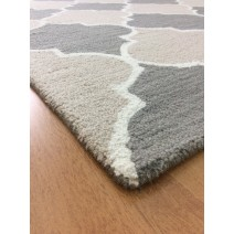 Handmade Wool Modern Brown/ Gray 5' x 8' lt1565 Area Rug