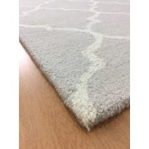 Handmade Wool Modern Gray/ Ivory 5' x 8' lt1566 Area Rug