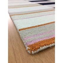 Handmade Wool Modern Ivory/ Rust 5' x 8' lt1569 Area Rug