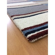 Handmade Wool Modern Ivroy/ Gray 5' x 8' lt1591 Area Rug