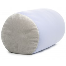 Mooshi Squish Mini Microbead Jelly Bean Bed Pillow - Airy Squishy Soft Microbeads - Throw Pillow, Silver Mist