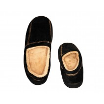 Deluxe Comfort Modern Moccasin Memory Foam Mens Slipper, Size 13-14 - Stylish Microsuede - Long Lasting Memory Foam - Warm Fleece Lining - Mens Slippers, Black