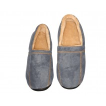 Deluxe Comfort Modern Moccasin Memory Foam Mens Slipper, Size 11-12 - Stylish Microsuede - Long Lasting Memory Foam - Warm Fleece Lining - Mens