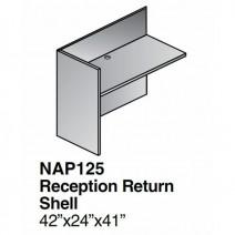 "Napa Reception Return Shell 42"" x 24"" x 41"", Urban Walnut"