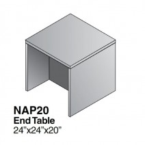 "Napa End Table 24"" x 24"" x 20"", Urban Walnut"