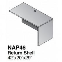 """Napa Return Shell 42"""" x 20"""" x 29"""", Urban Walnut"""