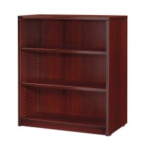 "Napa 3-Shelf Bookcase 36"" x 14"" x 42"", Mahogany"