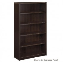 Napa 5-Shelf Bookcase, 36 x 14 x 65H, Espresso