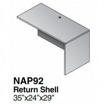Napa Return Shell 36 x 24, Urban Walnut
