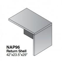 """Napa Return Shell 42"""" x 23"""" x 29"""", Urban Walnut"""