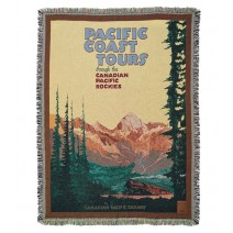 Pacific Coast Tours Cotton Throw