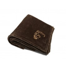 Signature Series Plushera Throw - Taupe w/Angry Bear