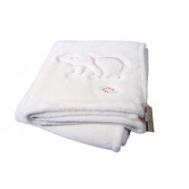 Signature Series Plushera Throw - Vanilla White w/Polar Bear
