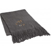 Signature Series Boucle Fringed Scarf - Eagle on gray