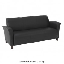 Black Bonded Leather Sofa