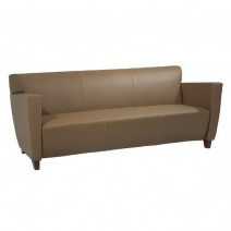 Taupe Leather Sofa