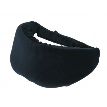 Deluxe Comfort Sleep Soft Memory Foam Eye Mask - 50% Cotton & 50% Polyster - Soft Memory Foam - Adjustable Strap - Sleeping Mask, Black