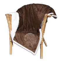 Spindle Whorl Lambswool Throw - Chocolate