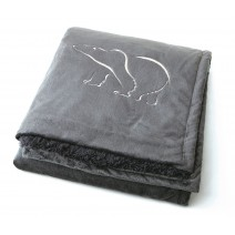 Signature Series Urban Classic Throw - Charcoal w/ Polar Bear