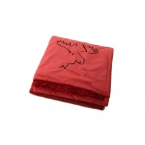 Signature Series Urban Classic Throw - Firebrick Red w/ Moose