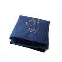 Signature Series Urban Classic Throw - Royal Blue w/ Eagle
