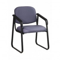 Deluxe Sled Base Arm Chair with Designer Plastic Shell, Custom C Grade Fabric